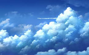 Picture the sky, clouds, fluffy