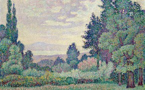 Picture picture, 1905, pointillism, Fauvism, Jean Metzinger, Jean Metzinger, Landscape with Two Cypresses