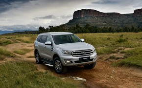 Picture grass, Ford, Everest, 4WD, midsize, XLT, 2019
