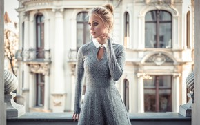 Picture girl, dress, photo, photographer, model, lips, blonde, building, portrait, mouth, knot, lipstick, depth of field, …