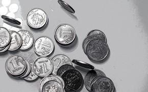 Picture style, money, coins, rubles, penny, железные деньги, деньги русские