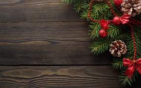 Picture decoration, New Year, Christmas, Christmas, wood, New Year, decoration, xmas, Merry, fir tree, fir-tree branches
