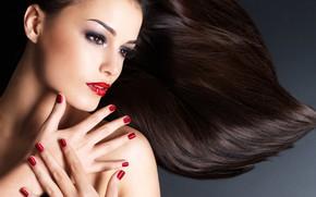 Picture model, pretty, make up