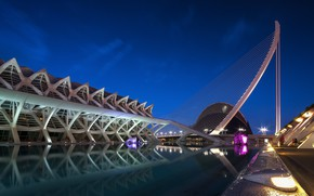 Picture the evening, Spain, Valencia, The city of arts and Sciences