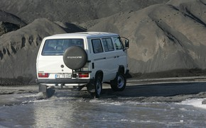 Picture water, Volkswagen, 4x4, the ground, T3 Syncro