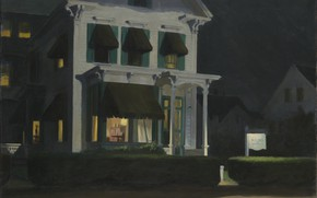 Picture Edward Hopper, 1945, Rooms for Tourists