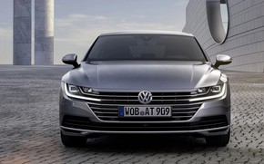 Picture Volkswagen, front view, 2018, Elegance, liftback, 2017, Arteon, gray-silver