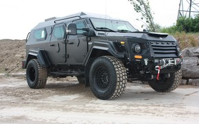Picture black, jeep, SUV, Armored car, armored car, Terradyne Armored, Armet Gurkha, Terradyne Gurkha RPV