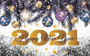 Picture Bombki, Twigs, New year, 2021