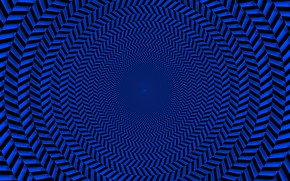Picture blue, round, pattern