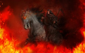 Picture Horse, Fire, Death, Hell, Flame, Braid, Fire, Flame, Death, Horse, Scythe, Hell, Antonio J. Manzanedo, …