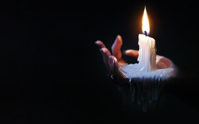 Picture Fire, Candle, Light, Hand, Brush, Candle, Lighting, Hand, Lighting, Wax, by Jonathan Jagger, Jonathan Jagger, …
