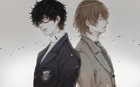 Picture background, guys, two, Person 5, Persona 5