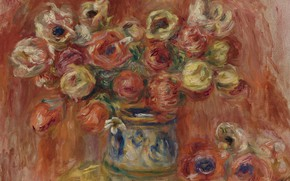 Picture picture, still life, A Bouquet Of Flowers, Pierre Auguste Renoir, Pierre Auguste Renoir