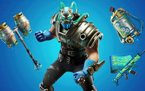 Picture weapons, armor, helmet, armor, character, Fortnite