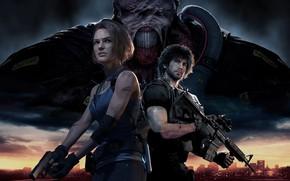 Picture girl, gun, pistol, game, monster, weapon, woman, police, Resident Evil, man, M4A1, rifle, Biohazard, Nemesis, …