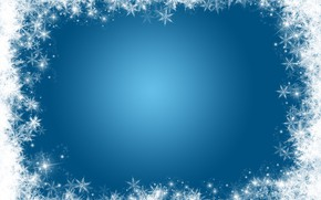 Picture frame, snow, snow, winter, background, snowflakes, snowflakes, Christmas, background, winter
