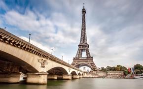 Picture bridge, Eiffel tower, Paris.