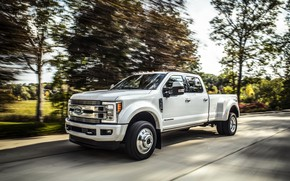 Picture trees, movement, Ford, pickup, 4x4, 2018, 440 HP, Super Duty, F-450, Limited, V8, 6.7 L., …