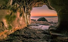 Picture sea, photo, rocks, cave