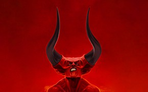 Picture Minimalism, Style, Face, Hell, The demon, Darkness, Fantasy, Horns, Devil, Darkness, Style, Legend, Legend, Minimalism, …