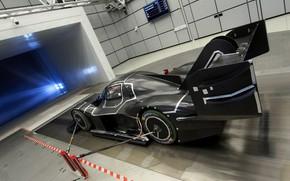 Picture black, Volkswagen, prototype, prototype, test, 2018, stand, I.D. R