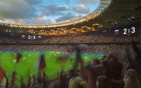 Wallpaper The game, People, Football, Russia, Match, Stadium, Lawn, Costa Rica, Fans, Krasnodar, The National Team ...