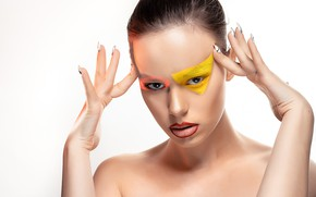Picture girl, face, style, model, makeup
