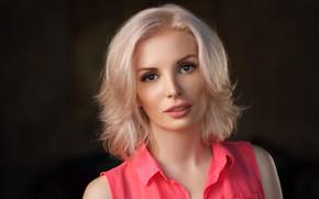 Picture look, background, model, portrait, makeup, hairstyle, blonde, beauty, Dmitry Yermokhin, Dmitry Ermokhin