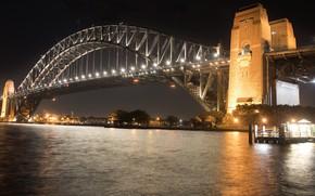 Picture night, bridge, the city
