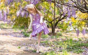Picture girl, shoes, doll, Wisteria