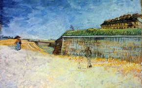 Picture Vincent van Gogh, of Paris 2, The Ramparts