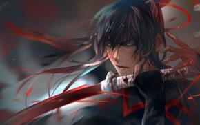 Picture look, samurai, guy, D. Gray-man