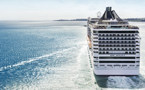 Picture The ocean, Sea, Liner, The ship, Utah, Passenger ship, MSC, Divina, Feed, Cruise Ship, Passenger …