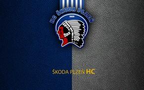 Picture wallpaper, sport, logo, hockey, Skoda Plzen