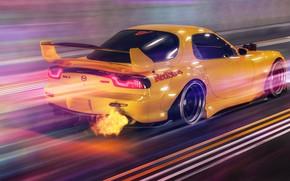 Picture Auto, Machine, Speed, Mazda, Car, Render, Rendering, Mazda RX-7, Transport & Vehicles, Javier Oquendo, by …