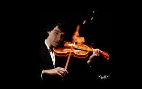 Picture violin, Sherlock Holmes, Benedict Cumberbatch, Sherlock, Sherlock, Sherlock BBC, Sherlock Holmes, Sherlock (TV series)
