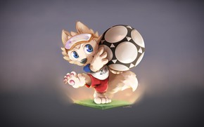 Picture Wolf, FIFA, FIFA, Sport, Mascotte, World Cup 2018, Russia 2018, The world Cup in Russia, ...