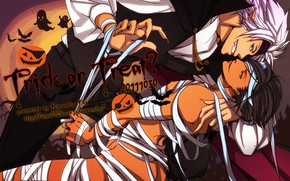 Picture guys, Halloween, bandages, Sengoku Basara, The Era Of Unrest