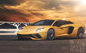 Picture Auto, Yellow, Lamborghini, Machine, Car, Car, Art, Gold, Lamborghini Murcielago, Supercar, Murcielago, Vehicles, Transport, Transport …