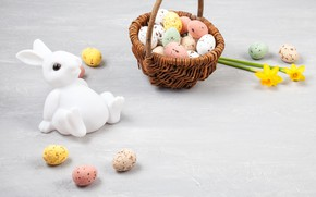 Picture holiday, eggs, rabbit, Easter