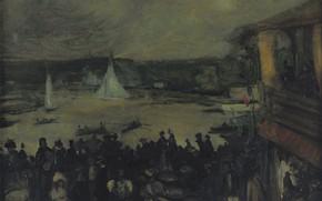 Picture picture, the urban landscape, William Glackens, 1895, William James Glackens, A Sailing Boat. Paris
