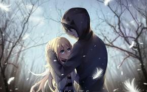 Picture romance, pair, two, Angel bloodshed, Satsuriku no Tenshi