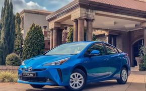 Picture photo, Blue, Toyota, Car, Prius, 2019