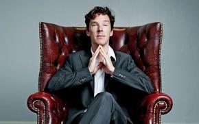Picture chair, guy, young, Benedict Cumberbatch, Benedict Cumberbatch