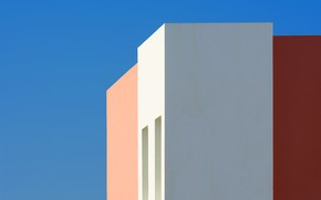 Picture the sky, house, wall, angle