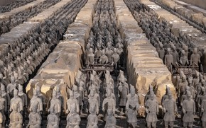 Picture soldiers, China, terracotta army