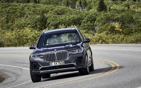 Picture vegetation, turn, BMW, 2018, crossover, SUV, 2019, BMW X7, X7, G07