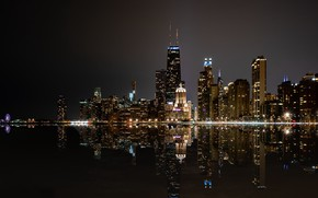 Picture night, the city, Chicago