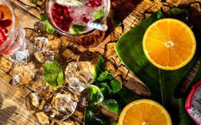 Picture ice, orange, tube, drink